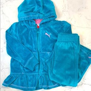 Toddler Puma Velour Outfit
